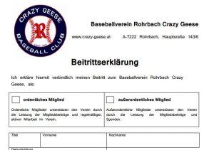 Mitgliedschaft – Rohrbach Crazy Geese