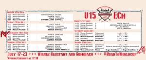 Baseball U15 Europameisterschaft.